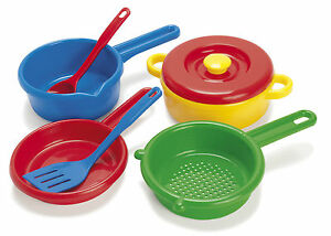 DANTOY-DURABLE-KIDS-CHILDRENS-PLAY-POTS-amp-PANS-SET-made-in-DENMARK-to-last