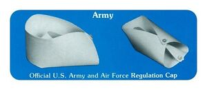 OFFICIAL US ARMY AIR FORCE REGULATION UNIFORM COSTUME NURSE CAP HAT WHITE ADULT