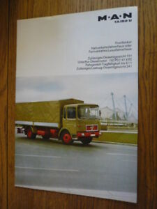 Details about M A N  13 192 U LORRY, TRUCK COMMERCIAL BROCHURE