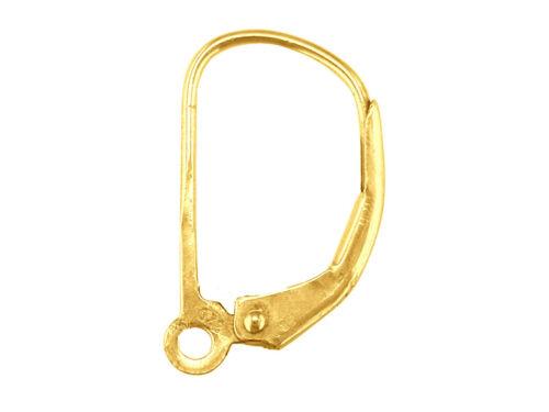 plain Or 9ct continental oreille sécurité fil boucles d/'oreilles /& compte-gouttes boucle uk made