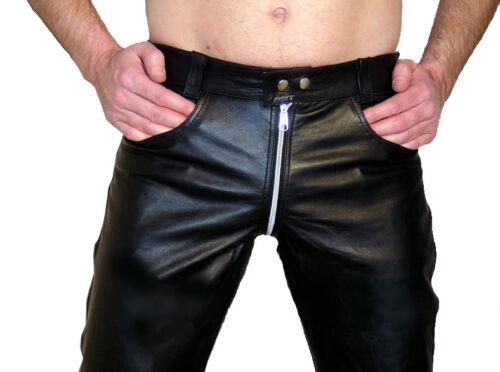 neri Lederhose Gay da in pelle New Pantaloni Pantaloni Cuir uomo XU6v6q