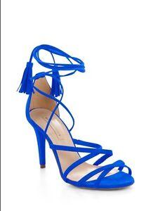 29121339f1 BCBGMAXAZRIA Lenita Suede Strappy Heel Sandal NWT 9 39 Cobalt Blue ...