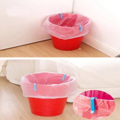 8x Universal Trash Bag Fixed Clip Waste Basket Rubbish Bin Garbage Can Clamp NEU