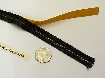 Ladder Tape - Stove Glass Sealing Tape - Black Fire Glass Rope - 2 METRE ROLL