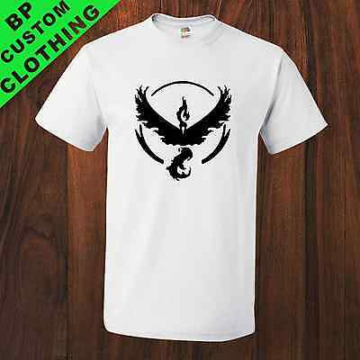New Team Valor Pokemon GO Fan Inspired Mens Uni-sex T-Shirt 8 colors S-5XL