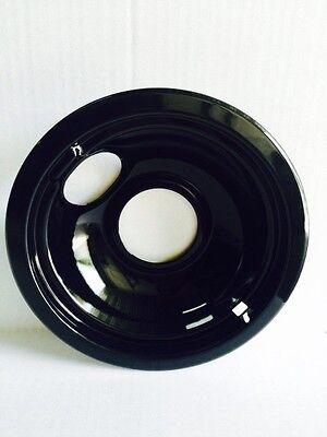 "Whirlpool Admiral International Cooktop 6/"" Black Porcelain Drip Bowl W10290353"