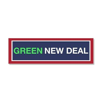 CafePress Green New Deal Car Magnet 10 x 3 393756125 Magnetic Bumper Sticker