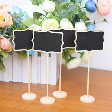 10x Wood Floral Chalkboards Black Board with Stand for Message Board Signs
