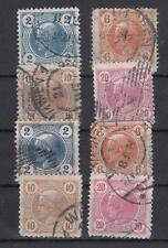 Österreich Nr. 97-100, 101-104 gestempelt, privat gezähnt