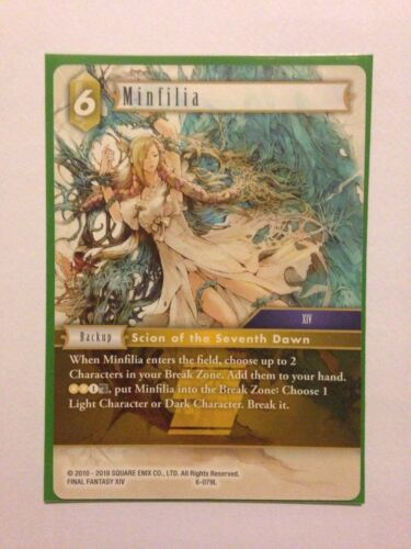 Opus 6 Pack fresh Minfilia 6-079L Final Fantasy TCG