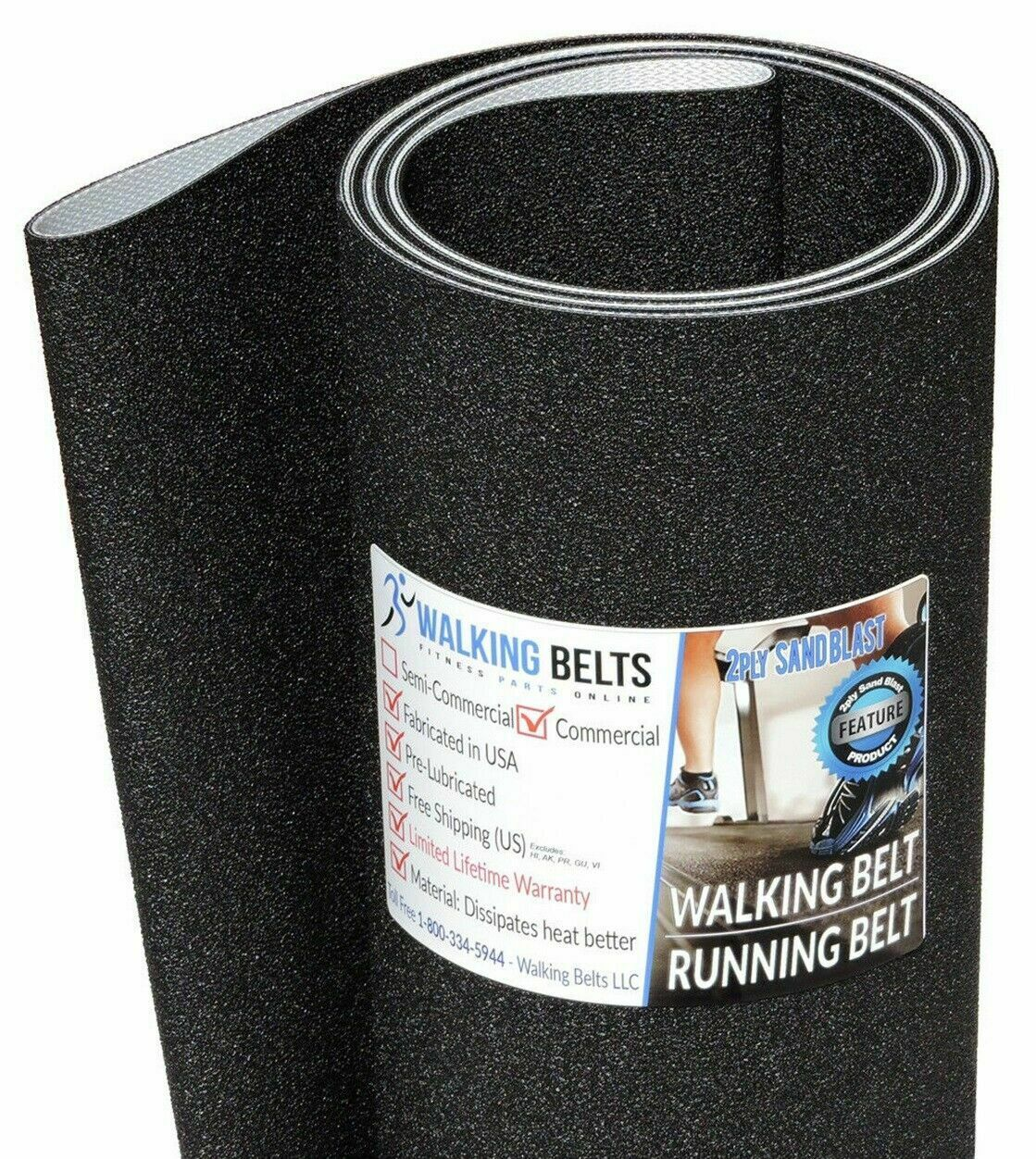Life Fitness 9500 S N  HTL320000-UP Next Gen Running 2-ply Sand Blast + 1oz Lube