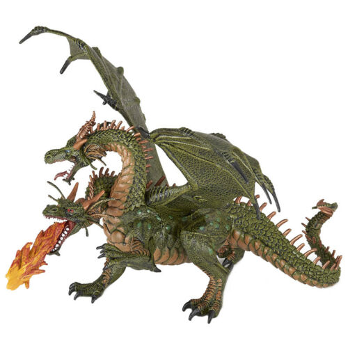 Papo Fantasy World Deux Tête Dragon Collection Figure 36019 New