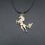 Pferd-Anhaenger-Stute-Hengst-Kette-Halskette-gold-oder-silber-farbig Indexbild 2