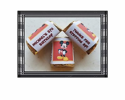 30 Hershey Nugget Labels Stickers favors loot Personalized ANY LOGO OR PICTURE