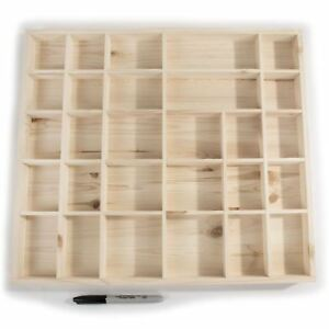 watch 85edc 4fc78 Details about Wooden Display Shelves 28 Compartment Wall-mounted Hanging  Floating Storage Unit