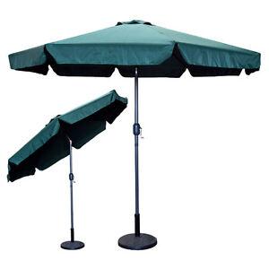 9 feet ft outdoor patio umbrella green crank market for 9 ft garden pool