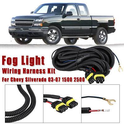 Fog Light Wiring Harness Kit For Chevy Silverado 1500 2500 ...