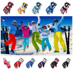 Kids-Ski-Snow-Gloves-Windproof-Sports-Warm-Thermal-Motorcycle-Snowboard-Mittens
