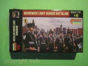 1-72-Strelets-154-Napoleon-Braunschweig-Garde-Figuren-im-still-gestanden