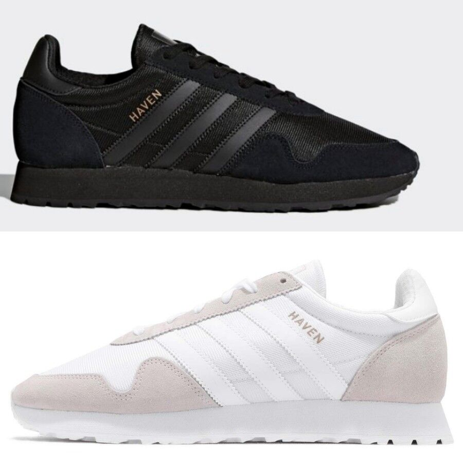Adidas Originals Haven Vintage White Black Running shoes Sneakers BY9718 Sz 4-13