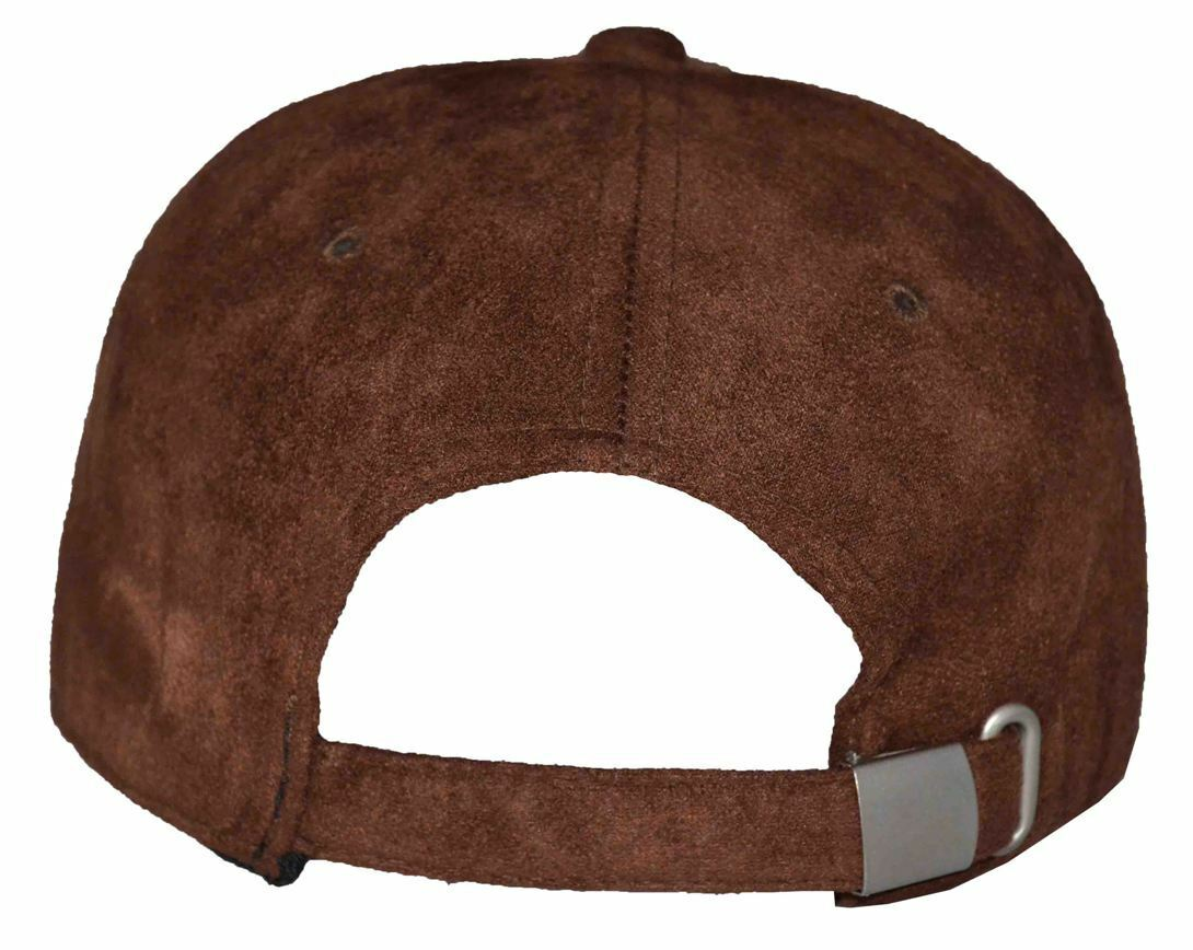 Nissi Men s Suede Adjustable Baseball Cap Brown for sale online  730c842a6cb8