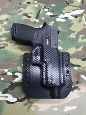 Black Carbon Fiber Kydex Holster Sig P320 Compact Threaded Barrel