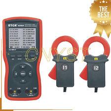 Digital Intelligent Double Clamp Phase Volt Ampere Meter Measurement Gauge