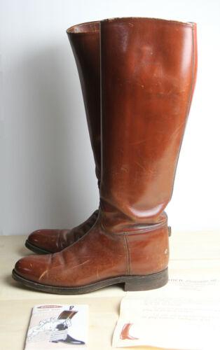 Vintage DEHNER PATROL BOOTS Mens 9.5 - 10 Brown Le