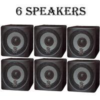 Lot Of (6) Pyle Pcb3bk 100w 3'' Mini Cube Bookshelf Speakers (black) on sale