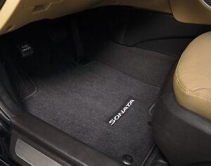 Details About 2017 Hyundai Sonata 4pc Set Black Carpeted Floor Mats C1f14 Ac000