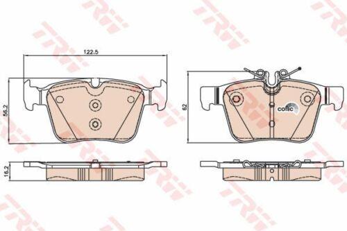 TRW GDB2071 BRAKE PAD SET DISC BRAKE Rear