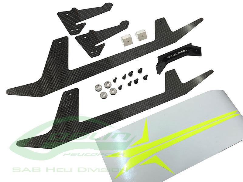 Carbon Fibre Landing Gear Set - Goblin 500 Sport
