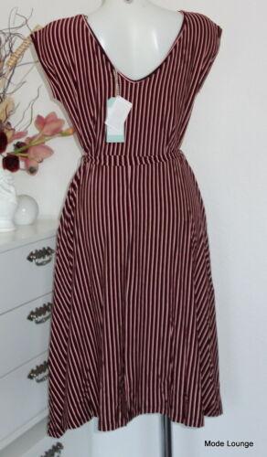 King Louie Retro 70er Kleid Grade Dress Slim Shady 03082 rot schwarz gestreift