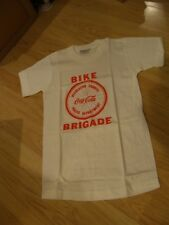 RARE Vtg COCA-COLA Soda Bike Brigade Police Department CHILDS SHIRT HTF