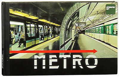 Paris Metro Larry Yust wide-angle station photos signed first edition folio