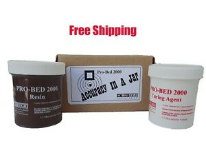 Score-High-4-Ounce-Brown-Pro-Bed-2000-Basic-Epoxy-Rifle-Stock-Bedding-Kit
