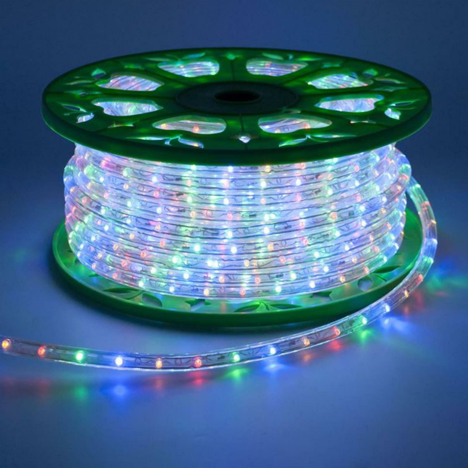 TUBO A LED LUMINOSO 50 MT DA ESTERNO MULTIFarbe LUCI DI NATALE 1200 LED ADDOBBI