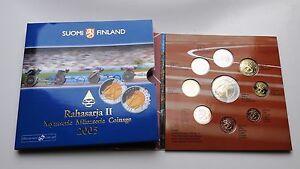 Coffret  BU FINLANDE 2005 les 8 pieces en euros + 5€  Finland neuf