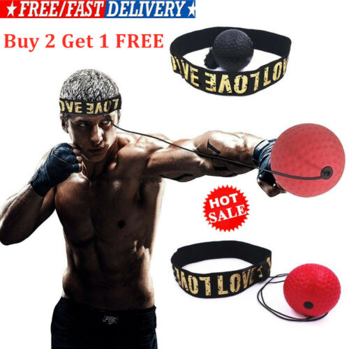 Head-Mounted Boxing Reflex Ball Raising Reaction Force Hand Eye Training Set UK