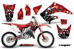 Dirt Bike Graphics Kit Decal Sticker Wrap For Honda CRF450R 2002-2004 CAMO RED