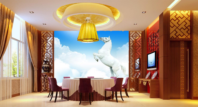 3D Wolken Weißes Pferd 74 Tapete Wandgemälde Tapete Tapeten Bild Familie DE