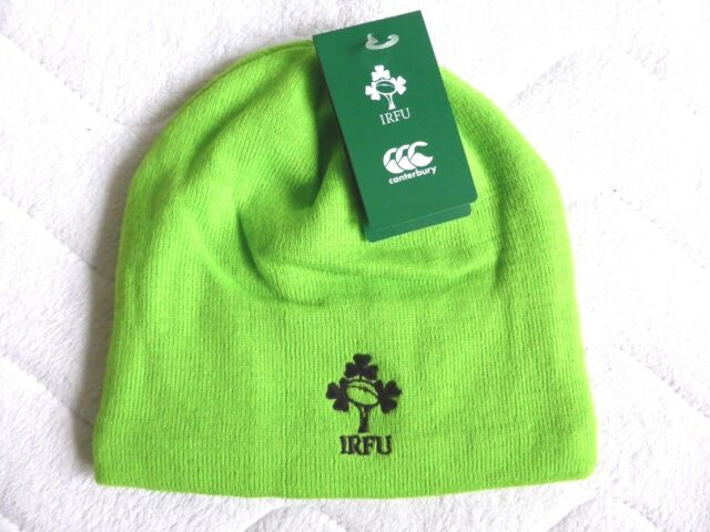 f716ba9485f IRELAND Canterbury RUGBY Jasmine Green 2018 BEANIE Toque Hat Tags OSFA  Official