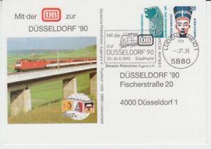 Bund-Privatganzsache-Eisenbahn-Duesseldorf-90-oo