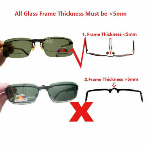 Polarized Sunglasses Clip On Driving Glasses Day Night Vision Lens UV400 Outdoor