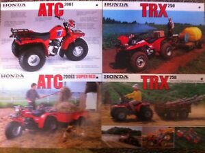 Image Is Loading 4 Mid 1980s HONDA FARM BIKES Japanese Brochures