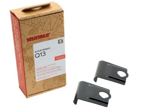 Yakima Q13 Q Tower Clips w// A Pads /& Vinyl Pads #00613 2 clips Q 13 NEW in box