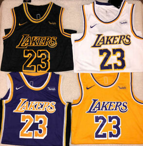 07d22f408607 LeBron James 23 Los Angeles Lakers Men s Adult Youth Sewn Swingman ...