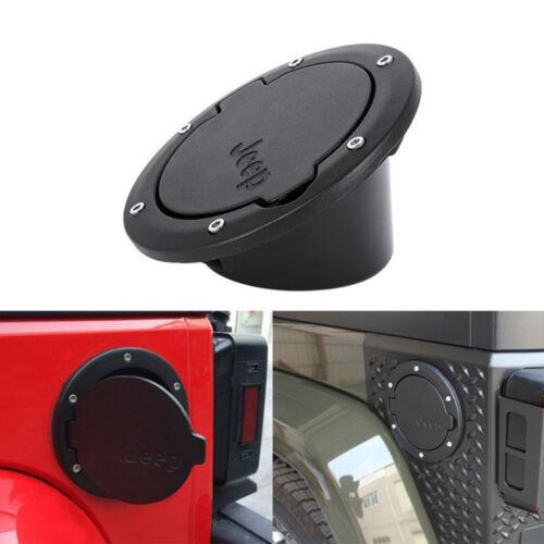 Fuel Filler Door Cover Gas Tank Cap For Jeep Wrangler JK Unlimited 2//4Door Black