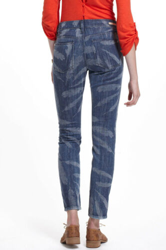 Pilcro Stet Slim Ankle Laser Feather Jeans Pants Sz 28 29 NW ANTHROPOLOGIE Tag
