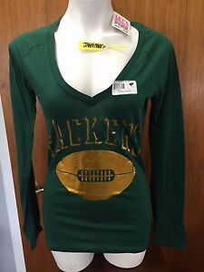 NEW! Victoria Secret Pink NFL GREEN BAY PACKERS Long Sleeve Shirt ... d77b4670b